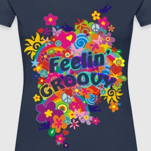 NEW FLOWER POWER RAINBOW - feelin' groovy | Frauenshirt XXXL - Frauen Premium T-Shirt