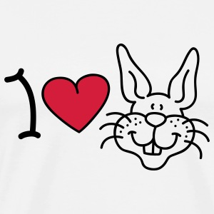 I love Rabbits T-Shirts - Men's Premium T-Shirt