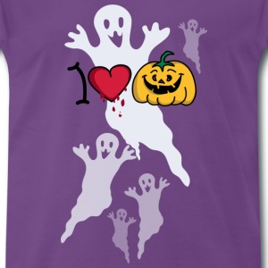 I love Halloween T-shirts - Mannen Premium T-shirt