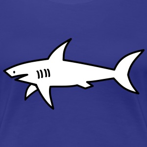 white shark T-Shirts - Women's Premium T-Shirt