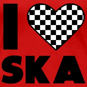 I love Ska / I heart Ska Music T-Shirts - Frauen Premium T-Shirt
