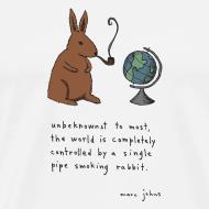 Design ~ Pipe smoking rabbit - Mens white