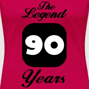 90 neunzigster Geburtstag: The Legend 90 Years. T-Shirts - Frauen Premium T-Shirt