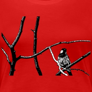 Digital Direkt - Natur Vogel Bird Freedom Freiheit Peace Frieden T-shirts - Premium-T-shirt dam