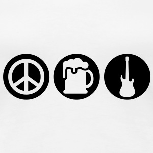 Peace | Beer | Rock | Frieden | Bier | Rock & Roll T-Shirts - Women's Premium T-Shirt