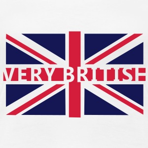 VERY BRITISH - Fahne / Flag | Frauenshirt Girlie Style - Frauen Premium T-Shirt