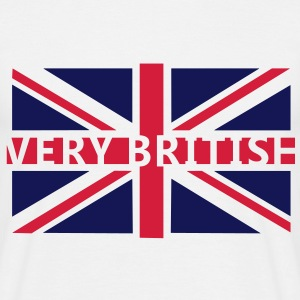 VERY BRITISH - Fahne / Flag | unisex shirt - Männer T-Shirt