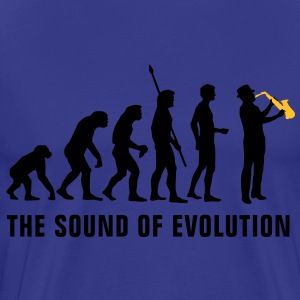 evolution_saxophon_b_2c T-Shirts - Men's Premium T-Shirt