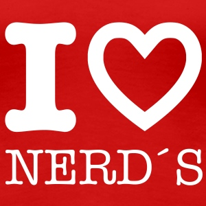 I love nerds - Frauen Premium T-Shirt
