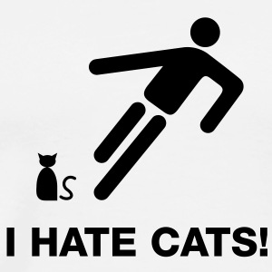 I hate cats - Männer Premium T-Shirt