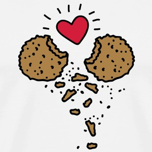 Cookies in Love T-skjorter - Premium T-skjorte for menn
