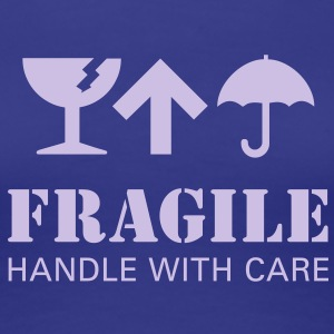 fragil handle with care T-Shirts - Frauen Premium T-Shirt