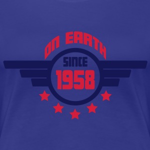1958_on_earth T-shirts - Vrouwen Premium T-shirt