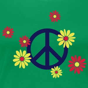 love and peace peacezeichen blumen T-Shirts - Frauen Premium T-Shirt