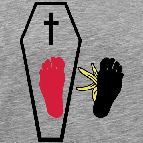 un pied tombe autre pied peau banane