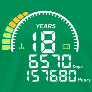 compteur anniversaire years ans 18 Tee shirts - T-shirt Premium Homme