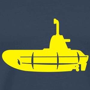 1 colour - Gelbes U-Boot schwarz - Yellow Submarine black T-shirts - Mannen Premium T-shirt