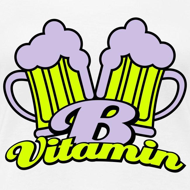 Bier zit vol met vitamine B Grote Maten Dames T-shirt