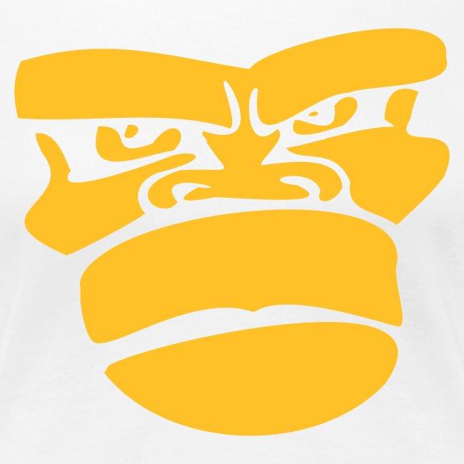 Apengezicht Grote Maten Dames T-shirt