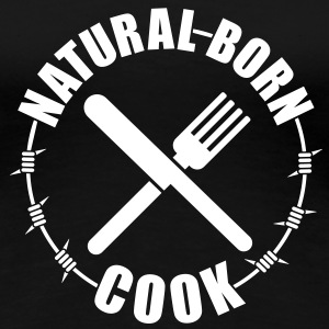 Natural born Cook | Koch T-Shirts - Dame premium T-shirt