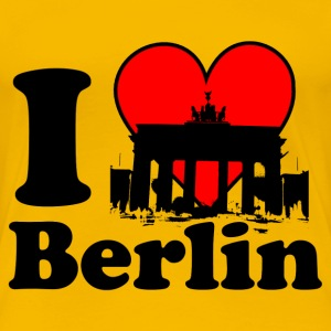 I Love Berlin T-Shirt Brandenburger Tor - Frauen Premium T-Shirt