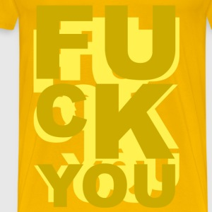 fuck you T-shirts - Herre premium T-shirt