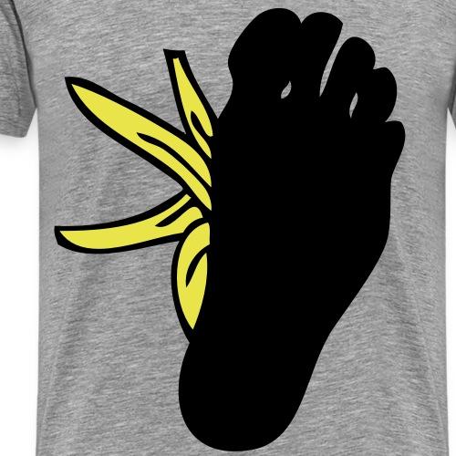 pied sur peau banane