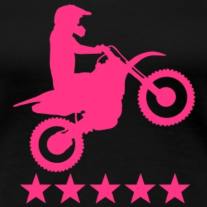 motocross 5 star T-Shirts - Frauen Premium T-Shirt