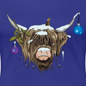 Xmas Highland Cow (Limited Edition) - Women's Premium T-Shirt