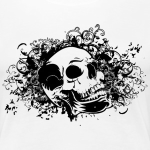ornamental skull  T-Shirts - Frauen Premium T-Shirt