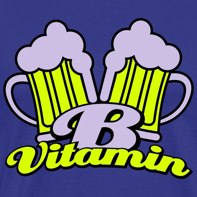 Bier zit vol met vitamine B Heren T-shirt