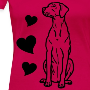 - www.dog-power.nl - CG -  - Dame premium T-shirt