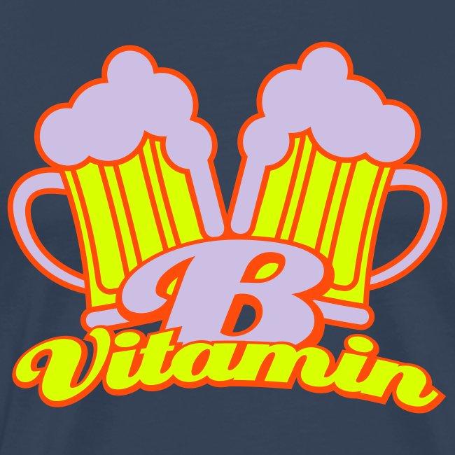 Bier zit vol met vitamine B Grote Maten Heren T-shirt