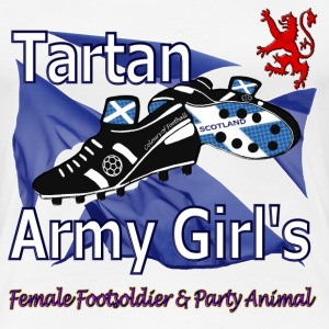 Tartan Army Girls Scotland Football - Women's Premium T-Shirt