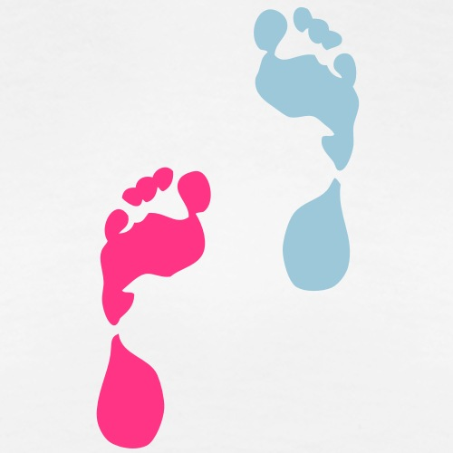 pied rose bleu