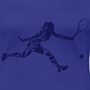 Tennis tribal T-Shirts - Vrouwen Premium T-shirt