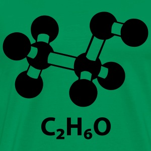 alcohol molecule with formula C2H6O T-Shirts - Men's Premium T-Shirt