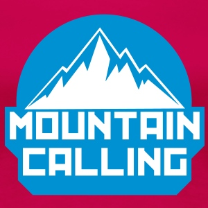 MOUNTAIN CALLING T-Shirts - Frauen Premium T-Shirt