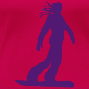 Snowboarding female - Women's Premium T-Shirt