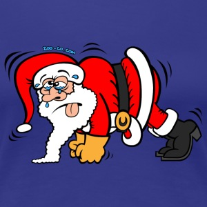 Santa Claus Doing Pushups T-Shirts - Women's Premium T-Shirt