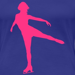 Ice Skating female - Dame premium T-shirt
