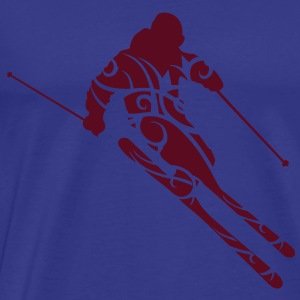Skiing tribal T-Shirts - Herre premium T-shirt
