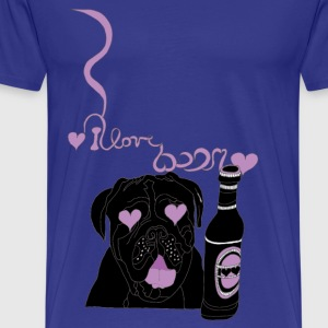 I love beer... - Premium T-skjorte for menn