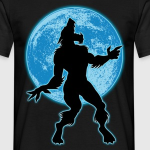 Werewolf and moon - T-shirt Homme