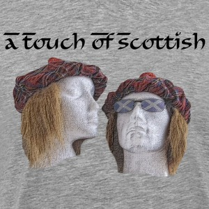 Faces of Scotland Pencil Effect T-Shirts - Men's Premium T-Shirt