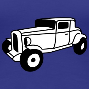 2 color Oldtimer Hot Rod Straßenkreuzer Rock and Roll Custom Car Camisetas - Camiseta premium mujer