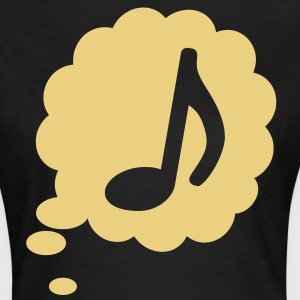 music speech bubble note thought T-Shirts - Frauen T-Shirt