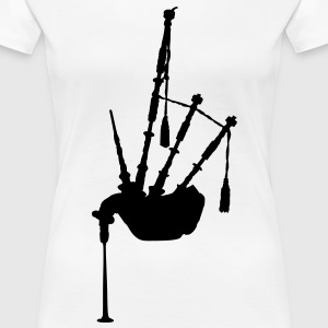 music bagpipe scotland scottish T-Shirts - Women's Premium T-Shirt