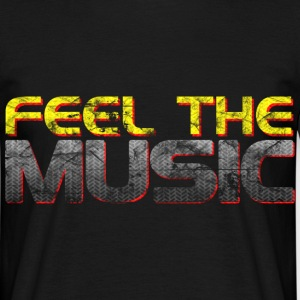 Black Feel The Music DJ Men's T-Shirts - Men's T-Shirt