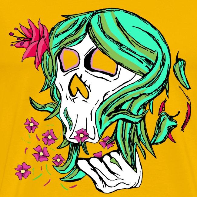 Nature Skull Girl - MENS Tee